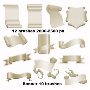free banner brushe for photoshop