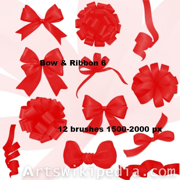 bow and flower photoshop brushes