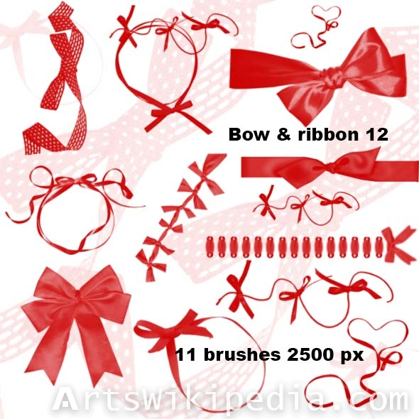 bow and ribbon 2500px for photoshop