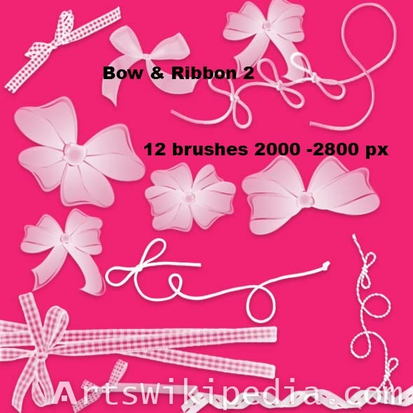 bow and ribbon brushes