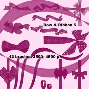 collection_of_bow_and_ribbon_photoshop_brushes