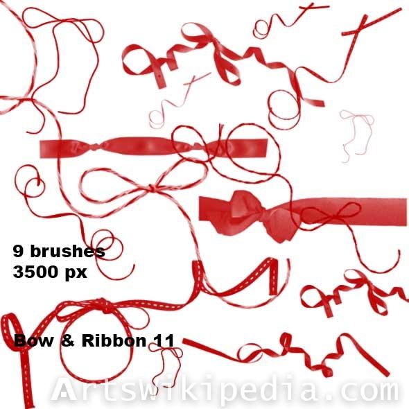 ribbon photoshop brushes