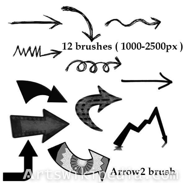 collection of arrow brushes