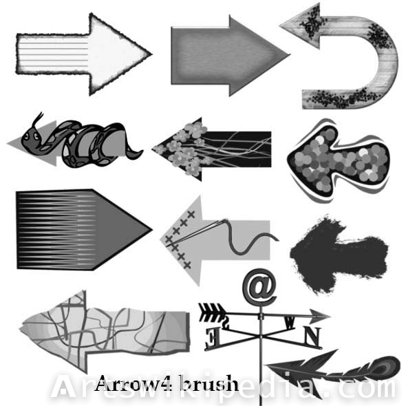 cool arrow photoshop brushes