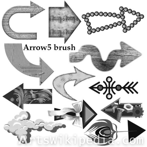 textured arrow brushes