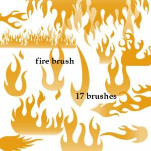 collection of fire photoshop brushes