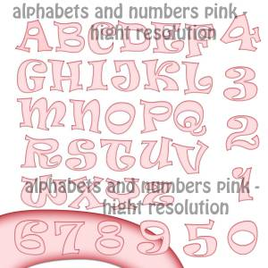 pink_alphabets_characters_and_numbers