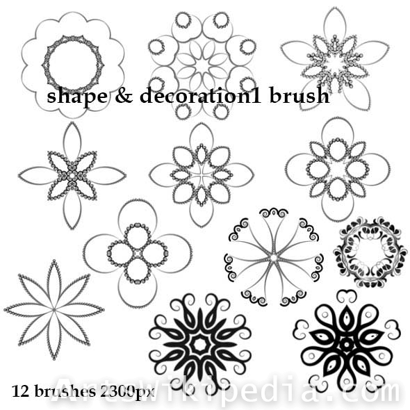 Ornament shape photoshop brush