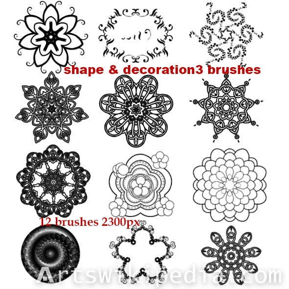 decorative  photoshop brushes