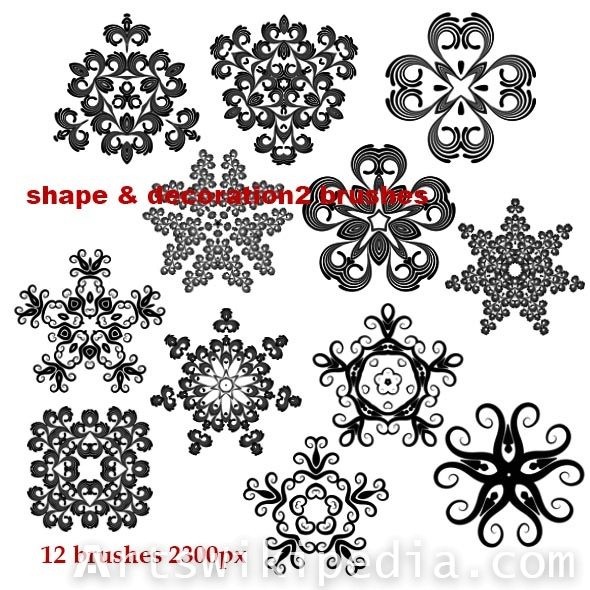 shape and decoration brushes