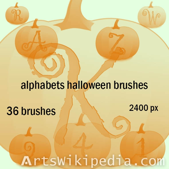 Font halloween pumpkin brushes
