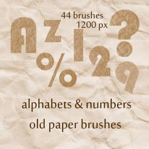 Font old paper brushes