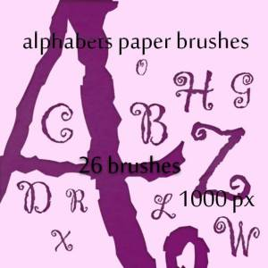 alphabets_paper_brushes