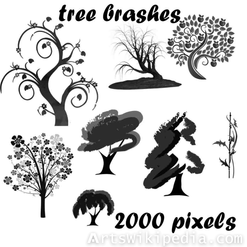 tree brushes for photoshop