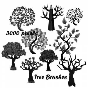 tree photoshop brushes