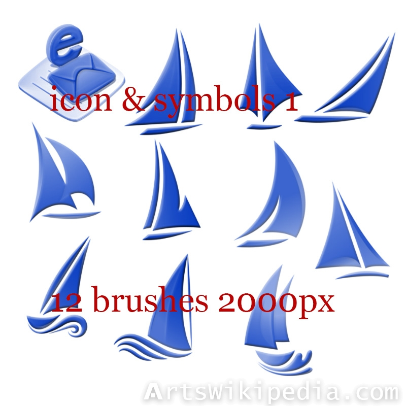 Sailing icons for photoshop