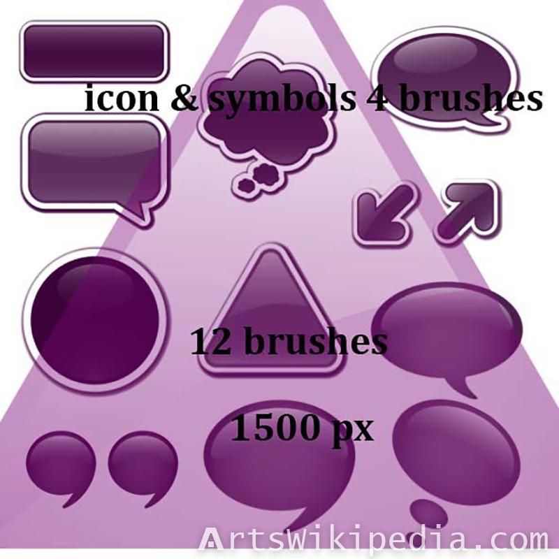comic icons and symbols photoshop brushes