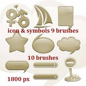 icons and symbols for photoshop