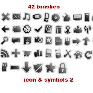 symbols brushes photoshop