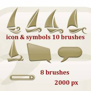 free photoshop icons brushes