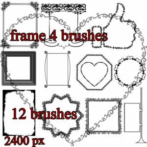 Artistic frame photoshop brushes