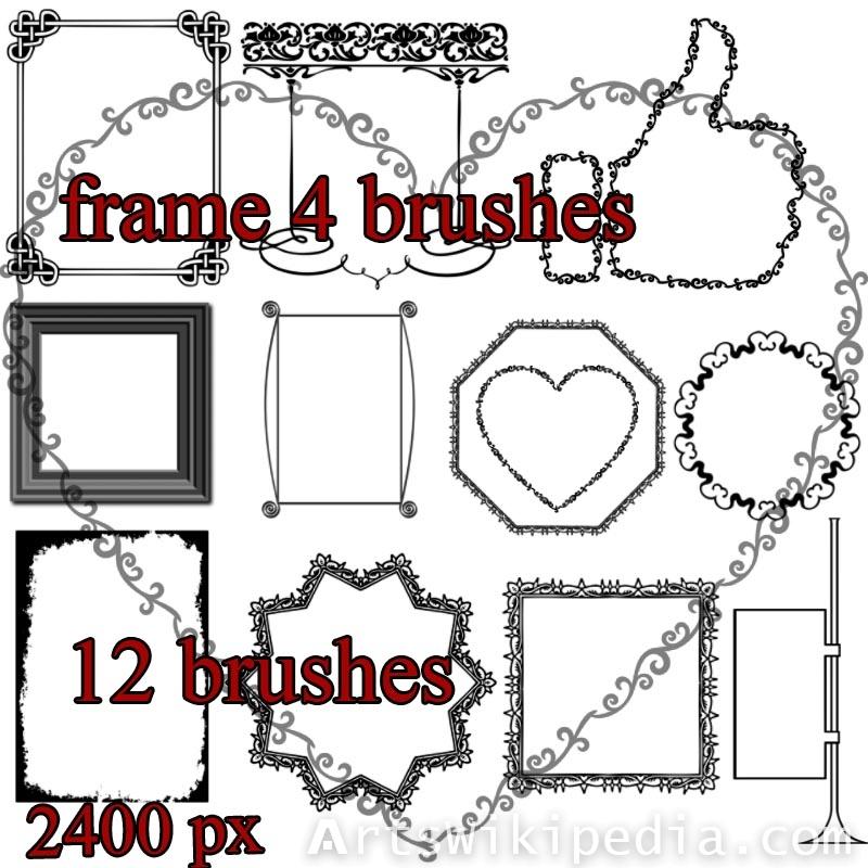 Artistic frame photoshop brushes
