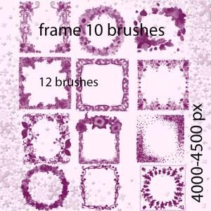 Floral Frame Photoshop