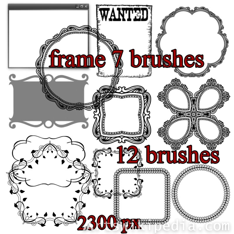 Ornament frames photoshop brushes