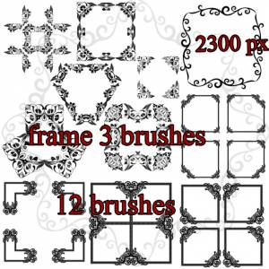 decoration frames brushes