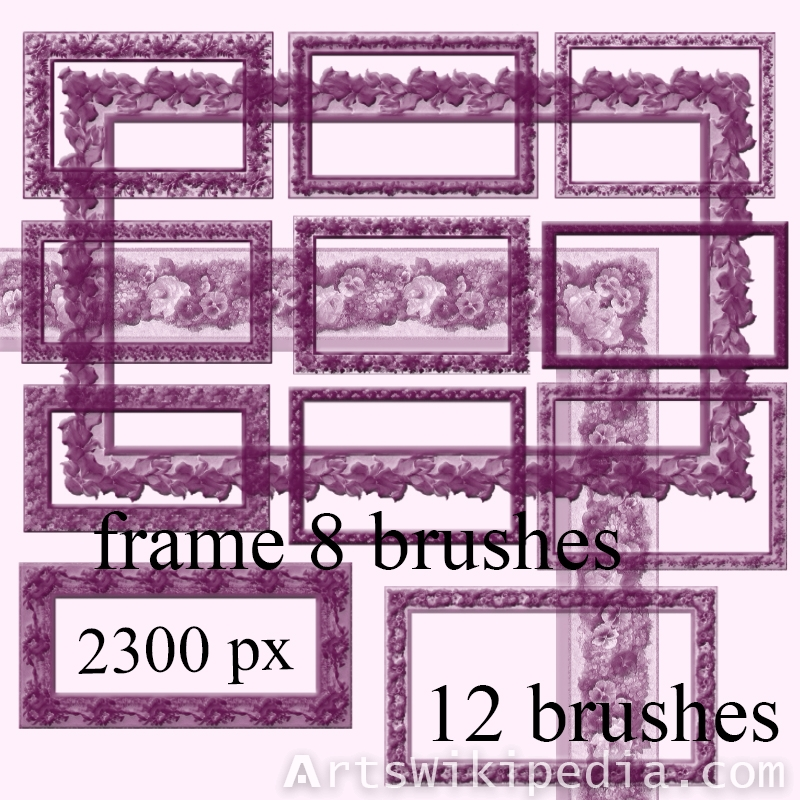 frames with flower photoshop brushes