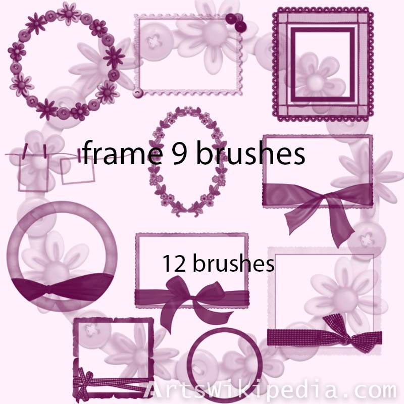ribbon frames photoshop brushes