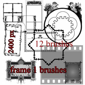 free frames photoshop brushes