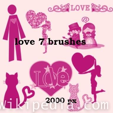 love photoshop brushes