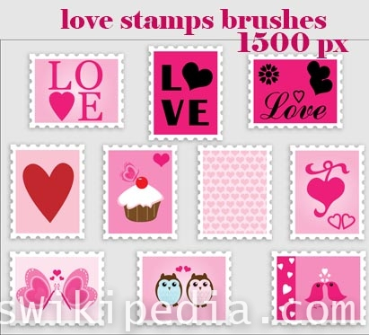 love stamps for photoshop