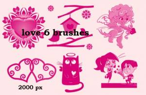 lovers and hearts photoshop brushes