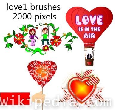 romantic couple photoshop brushes