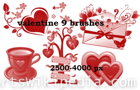 beautiful ideafor valentine brushes