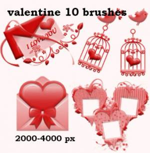 happy valentine day photoshop brushes