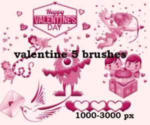 happy valentines day romantic brushes