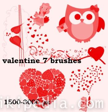 valentine love bird brushes