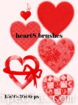 Cool hearts photoshop brushes