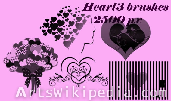 hearts arts photoshop brushes