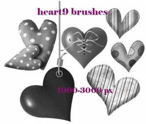 hearts polka photoshop brushes