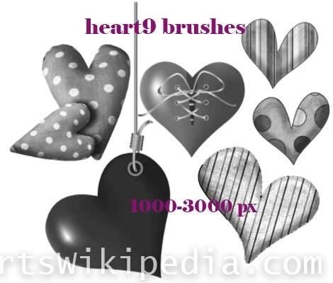 hearts polka photoshop brushes