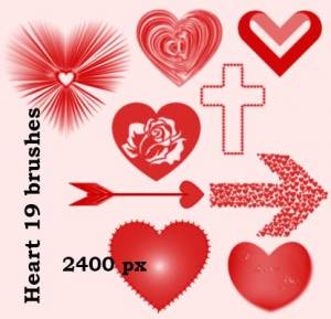 hearts_with_arrow_photoshop_brushes