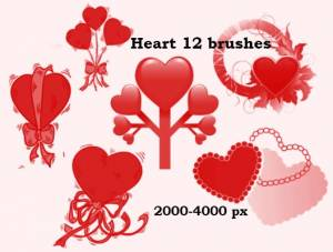 hearts_with_bow_high_resolution_photoshop_brushes