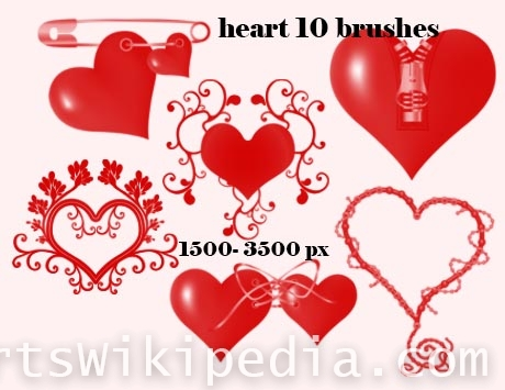hearts with decoration photoshop