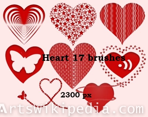 lover hearts photoshop brushes