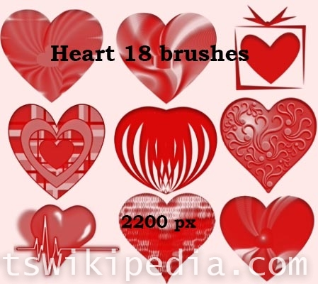 free love heart photoshop brushes
