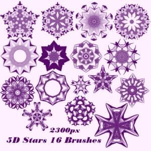 5D stars brushes